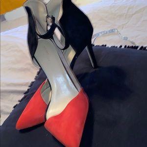 Zara color block beautiful heels 41